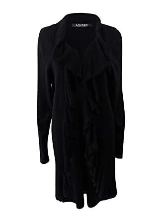 777eed7ec56 Image Unavailable. Image not available for. Color  LAUREN RALPH LAUREN  Womens Telania Cascade Ruffle Duster Sweater ...