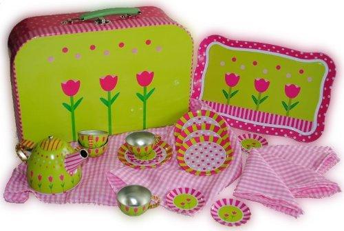 Set Picknick Koffer Metall Geschirr Spiel Küche Zubehör Koffer: Amazon.de:  Spielzeug