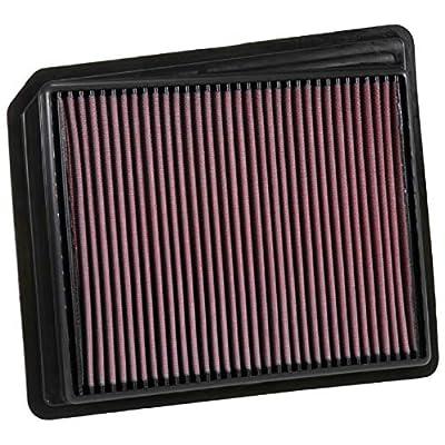 K&N Engine Air Filter: High Performance, Premium, Washable, Replacement Filter: 2020-2020 NISSAN Titan, 33-5062: Automotive