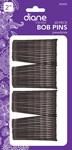 "Diane Bobby Pins, Black 2"" 60 ea (Pack of 12)"