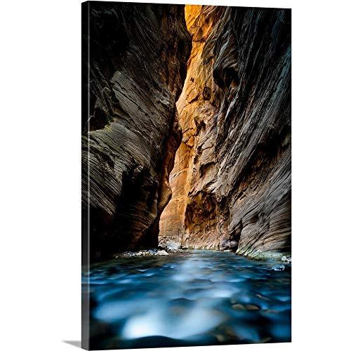 The Narrows, Zion National Park, Utah Canvas Wall Art Print, - Photograph National Park Utah