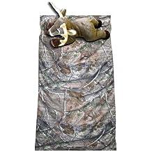 Camo Kids Realtree AP Slumber Sleeping Bag & Animal Pillow (Whitetail Deer Pillow)