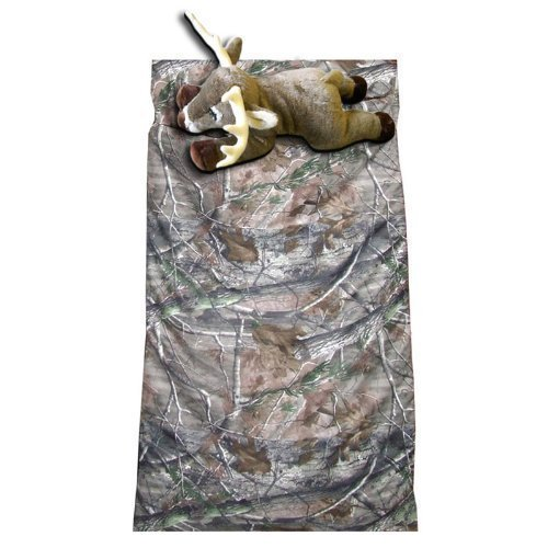 Camo Kids Realtree AP Slumber Sleeping Bag & Animal Pillow (Whitetail Deer Pillow) by Carstens
