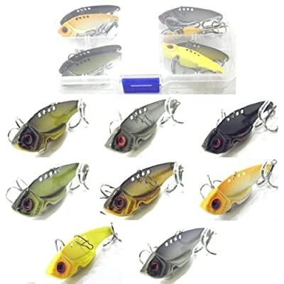 wLure 8 Blade Lures Metal Fishing Lures For Bass Fishing BLKB