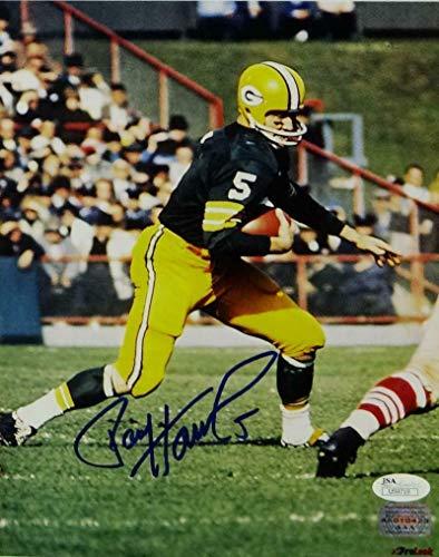 Paul Hornung Autographed Photograph - 8x10 On Field Auth *Blue - JSA Certified - Autographed NFL ()
