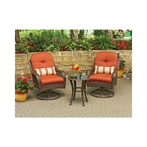 New azalea ridge 3 piece outdoor wicker metal home garden Better homes and gardens seat cushions
