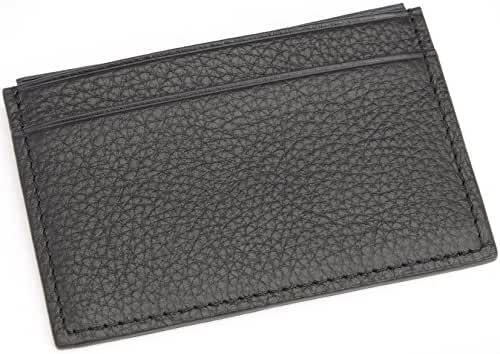 ROYCE Men's Luxury Genuine Leather Credit Card Wallet with RFID Blocking Technology for Identity Protection