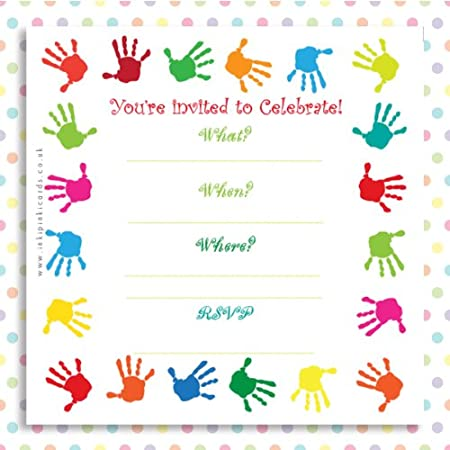 rainbow handprints a pack of 10 colourful kids birthday party