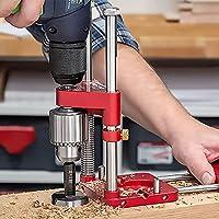 lefeindgdi Houtbewerking boren Locator Tool Kit, Verstelbare Punch Locator Drill Template Guide, Mini Bench Drill Press…