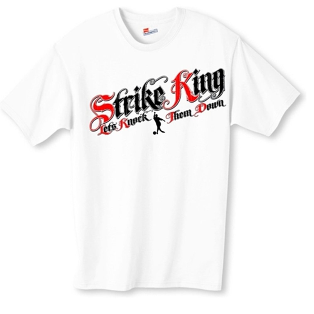 Strike King Bowling T-Shirt- White (XX-Large, White) by Bowlerstore Products