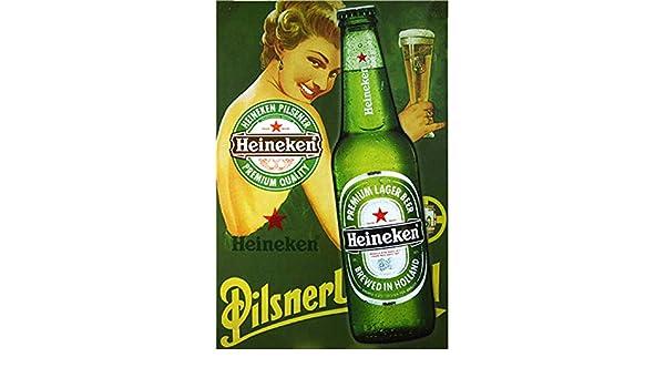 Heineken Gril Letrero de chapa de metal Pintado de metal ...