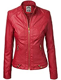 Amazon.com: Reds - Leather & Faux Leather / Coats, Jackets & Vests ...