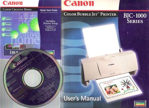Canon Color Bubble Jet Printer User's Manual & Installation CD (BJC-1000 Series)