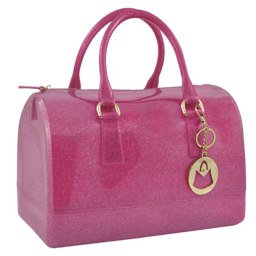 MG Collection CARLY Limited Edition Fuchsia Doctor Purse Style Candy Handbag, Bags Central