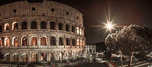 Feeling at home Imagen sobre Lienzo con Caja Americana Famoso Coliseo en Roma, Ital Frank Impresion enmarcada con Marco Clasico Horizontal 53_X_123cm