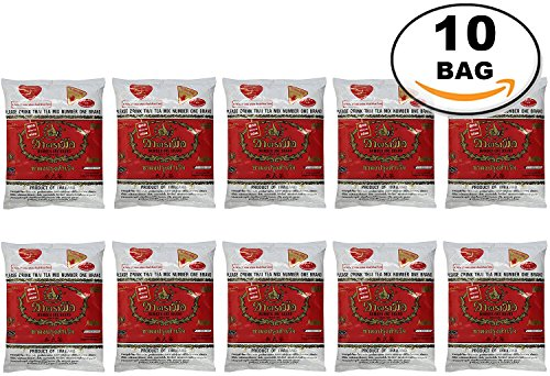 WHOLESALE 10 Bag Number One The Original Thai Iced Tea Mix - Number One Brand Imported From Thailand - Great for Restaurants That Want to Serve Authentic and Thai Iced Teas, 400g Bag by Number-One