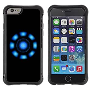 LASTONE PHONE CASE / Suave Silicona Caso Carcasa de Caucho Funda para Apple Iphone 6 PLUS 5.5 / Blue Lights
