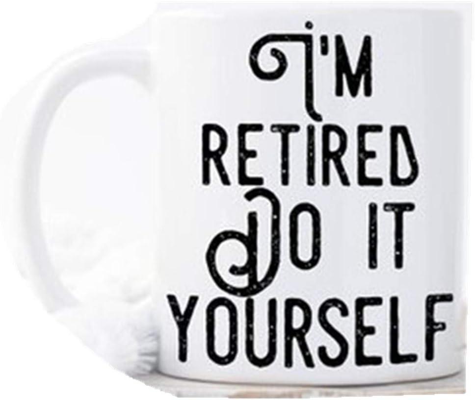 Taza con texto en inglés «I'm Retired, Do It Yourselmis», regalo para el padre, regalo de jubilación, jubilación, regalo jubilado, regalo de jubilación, regalo de jubilación, regalo de jubilación