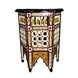 Moroccan Octagonal Moucharabieh Handpainted Table Arabic Design Furniture ...