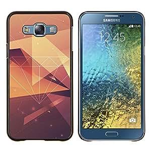 Diamond Vignette Modelo amarillo Polígono- Metal de aluminio y de plástico duro Caja del teléfono - Negro - Samsung Galaxy E7 / SM-E700