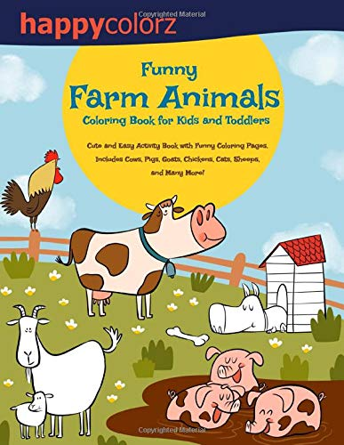 Funny Farm Animals Coloring Toddlers product image