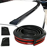 GOGOLO Glossy JDM 4.9ft/150CM Universal EPDM Rubber Trunk Car Rear Roof Lip Spoiler Strip, Rear Guard Bumper Protector Trim Cover Anti-scratch,100% Waterproof Protection, Black (150cm*4.5cm)
