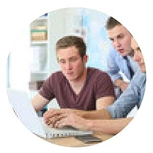 alfombrilla de ratón Grupo de jóvenes en formación empresarial - ronda - 20cm