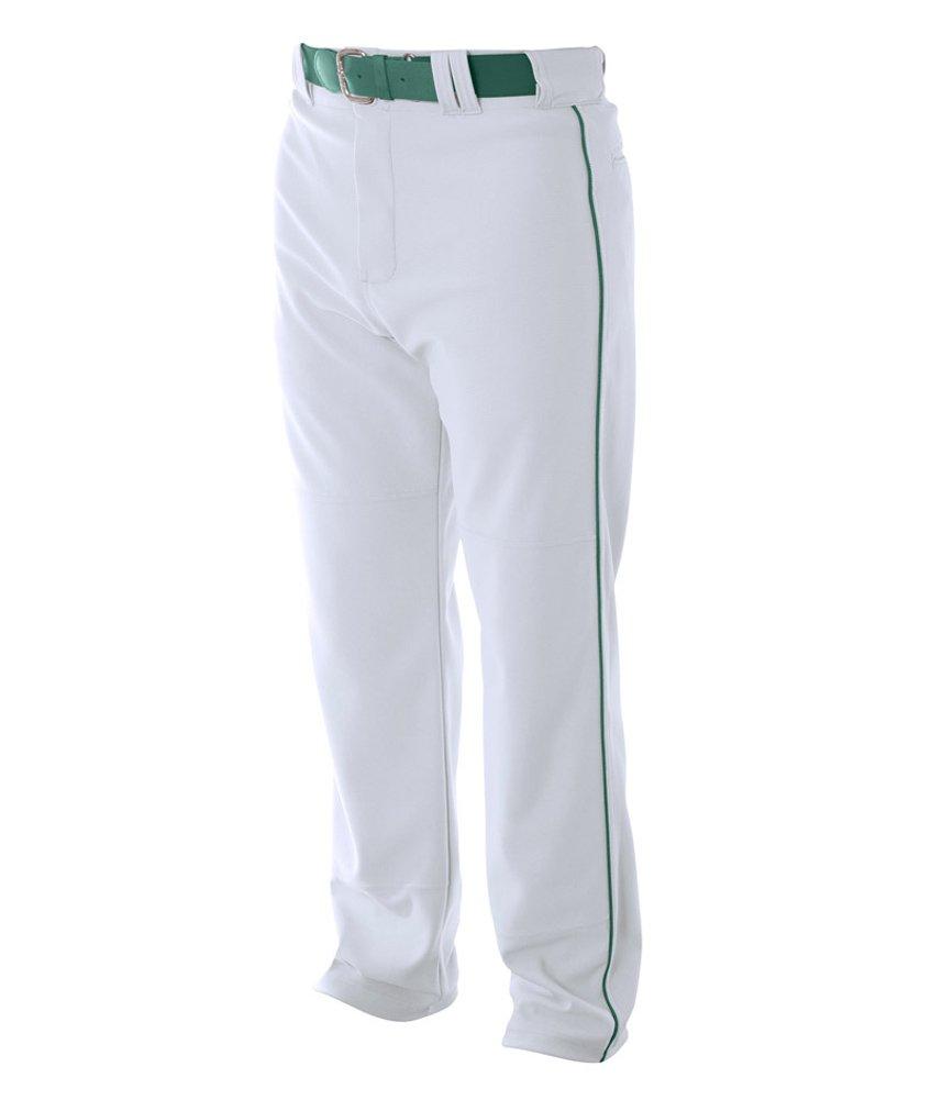 A4 野球用 バギーパンツ メンズ プロ仕様 パイピング入り B00BPXQFXW XL|ホワイト(White/Forest) ホワイト(White/Forest) XL