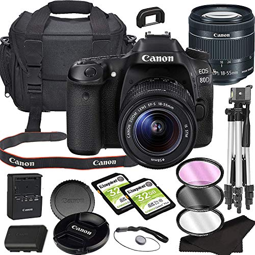 Canon EOS 80D DSLR Camera Bundle with 18-55mm STM Lens with Built-in Wi-Fi | 24.2 MP CMOS Sensor | DIGIC 6 Image…