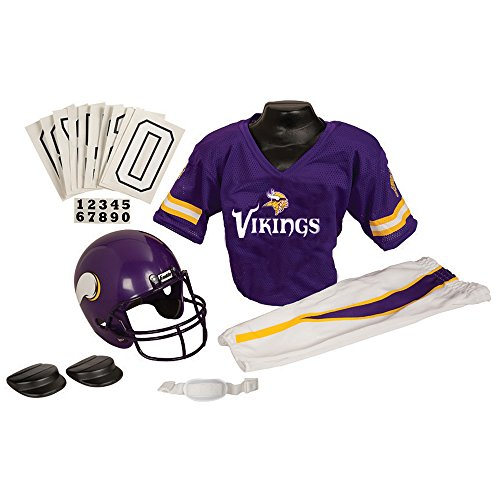 [NFL Deluxe Uniform Set Size: Medium, NFL Team: Minnesota Vikings] (Football Player Halloween Costume Women)