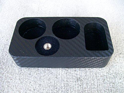 JWraps SX Mini, RBA/RDA & 2-30ml Stand For E-Cigarette (E-Cig) MOD Vaporizer Accessories Organizer Holder Topped In Black Carbon Fiber Skin Wrap Skin