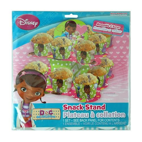Disney Doc McStuffins 2 Tier Cupcake Stand - Tiered Snack, Treat Stand, Birthday Party, Centerpiece, -