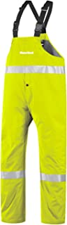 """product image for WaterShed 950AE011Z-LM-XSM StormShield Snap Fly Waterproof GORE-TEX Bib Overall with 12"""" Leg Zippers, Extra Small, Lime Green"""