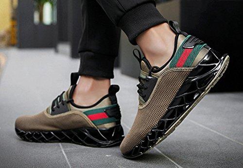 Fitness Homme Sneakers L Course Running Chaussure Jogging Respirant Paresseux Sport Chaussure LFEU Pour Sport de Loisir x4tqfvOvw1