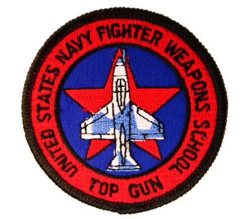 US Navy Fighter Weapons School TOP GUN 4 inch Embroidered Patch HON