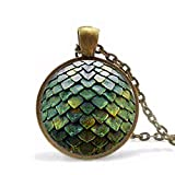 Game of Thrones Dragon Egg Pendant Necklace doctor who chain mens toy vintage 2017 Steampunk undertale