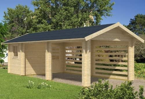 Skan Holz Garage Stockholm 340 X 800 Cm Amazon De Garten