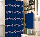NFL New England Patriots 20 piece Bath Ensemble: Set includes 1 shower curtain, 12 shower hooks, 2 bath towels, 2 hand towels, 2 finger-tip towels, and 1 Bath Mat.