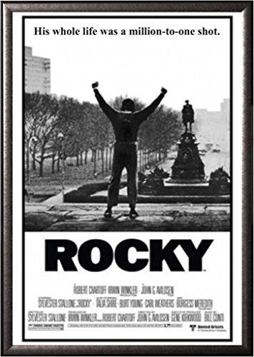 FRAMED Classic Movie - Rocky Balboa 24x36 Poster in Real Woo