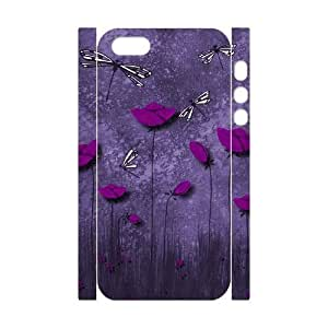 nazi diy Cool Painting Beautiful Dragonfly Personalized 3D Cover Case for Iphone 5,5S,customized phone case case-310424
