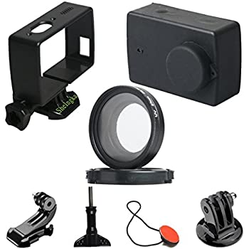 Amazon.com : TELESIN Accessories for Xiaomi Yi Standard ...