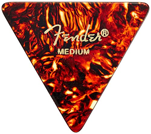 Fender 355 Shape Classic Celluloid Picks (12 Pack) for electric guitar, acoustic guitar, mandolin, and - Acoustic Triangle