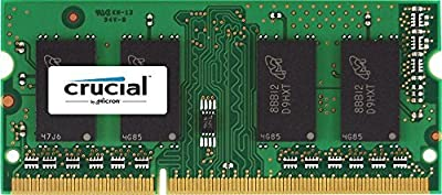 Crucial 4GB Single DDR3 1600 MT/s (PC3-12800) CL11 SODIMM 204-Pin 1.35V/1.5V Notebook Memory Module CT51264BF160B by Cruas