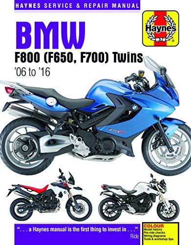 BMW F650, F700 & F800 Twins (06-16) Haynes Repair Manual (Haynes Service & Repair Manual)