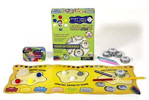 Crazy Aaron's Mixed by Me Glow in the Dark Make Your Own Thinking Putty, Made in USA, Age 8+