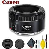 Canon EF 50mm f/1.8 STM Lens (International Model) Basic Bundle
