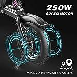HITWAY-Bicicletta-elettrica-Bicicletta-elettrica-Pieghevole-URBANBIKER-in-Alluminio-aeronautico-Pieghevole-75-Ah-Motore-da-250-W-Portata-Fino-a-45-km-BK1-HW