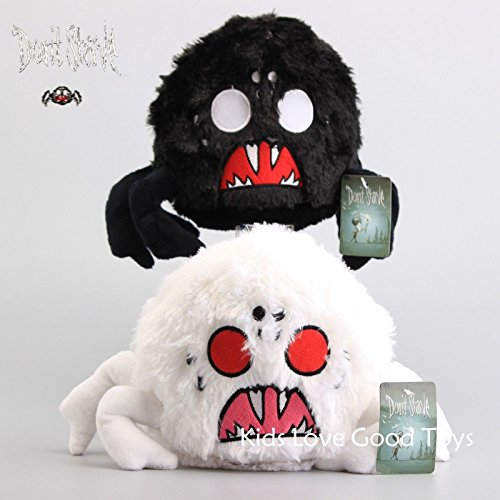 Shalleen 2X Don't Starve White & Black Shadow Spider Plush Toy Soft Stuffed Doll 9'' (Tim Burton Alice In Wonderland Alice Blue Dress Costume)