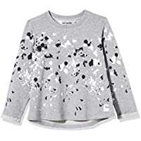 Kid Nation Girls' French Terry Rolled-Cuff Printed Oversized T-Shirt