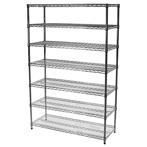 """Review 18""""d x 30""""w x 96""""h Chrome Wire Shelving with 7 By Shelving Inc by Shelving Inc"""